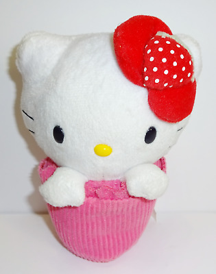 SANRIO 2010 Sweets Collection HELLO KITTY STRAWBERRY CUPCAKE Plush Soft Toy