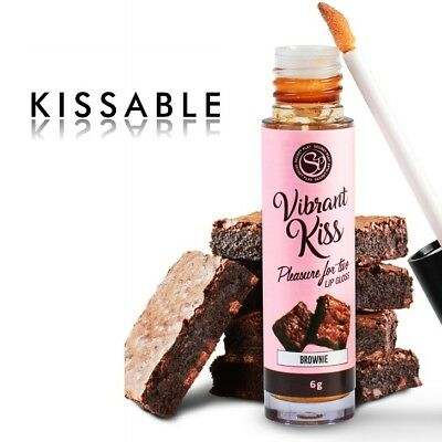 Secretplay Lip Gloss Vibrant Kiss - Brownie + Env. Discreto