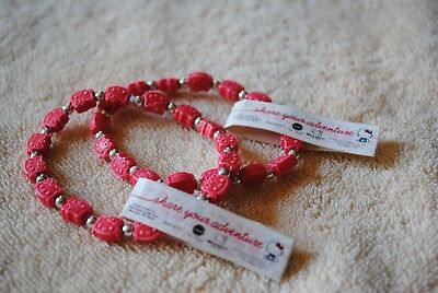 HELLO KITTY set of two stretchy red bracelets NWT
