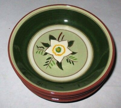 """8 Stangl Starflower  5 1/2 """" Fruit Bowls Made In  Usa All In Perfect Condition"""