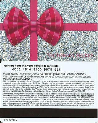 New Christmas Mint Gift Card From Victoria's Secret Canada Bilingual No Value