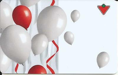 Balloons Mint Gift Card From Canadian Tire Canada Bilingual 01/11 No Value