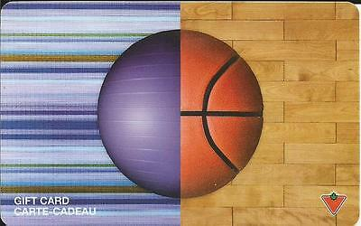Basketball Mint Gift Card From Canadian Tire Canada Bilingual 07/08 No Value