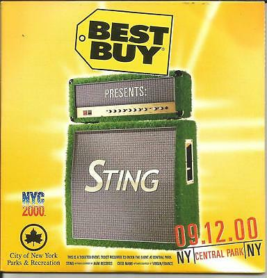 The Police STING LIVE Central Park 09/12/00 RARE BEST BUY PROMO CD ROM USA MINT