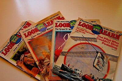 Look and Learn 1979 4X various copies
