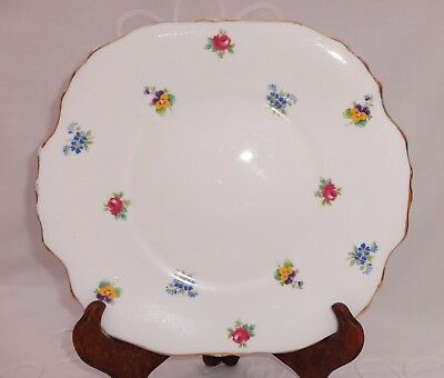 Vintage Crown Staffordshire Cake / Sandwich Plate Rose & Pansy Decoration