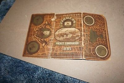 Vintage 1885 John Deere Pocket Companion Ledger Sawyer & Porter Central City Ia