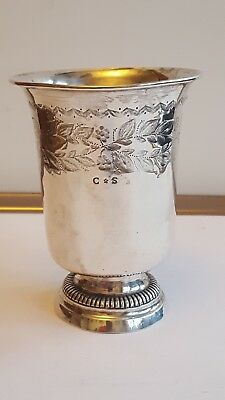 A French Solid Silver Cup / breaker 1820-1830s 11.4cm high 102 grams
