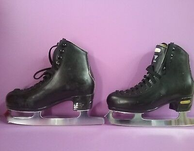Risport Laser Ladies Black Ice Skates, Size 9 1/3 inches (B31)