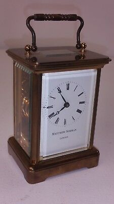 Matthew Norman London Carriage Clock Tested & Working With Both Keys FREE UK P&P