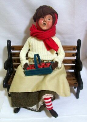 1999 by Byers' Choice Caroler Apple Lady on Park Bench