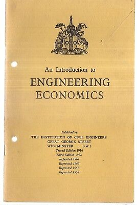 AN INTRODUCTION TO ENGINEERING ECONOMICS Institution of civil Engineers, 1968 pb