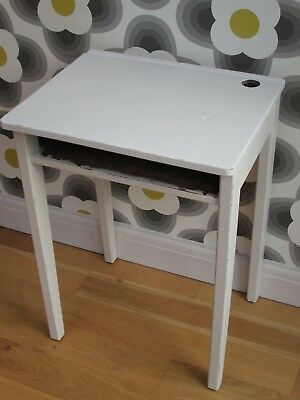 Vintage Wooden School Desk Painted with Laura Ashley. Shabby Chic Laptop Table