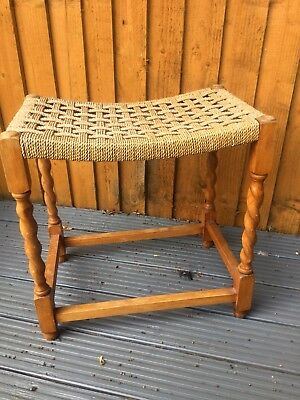 barley twist tall foot stool