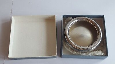 A Boxed George V Solid Silver Ashtray Ash tray Chester 1913  32 grams