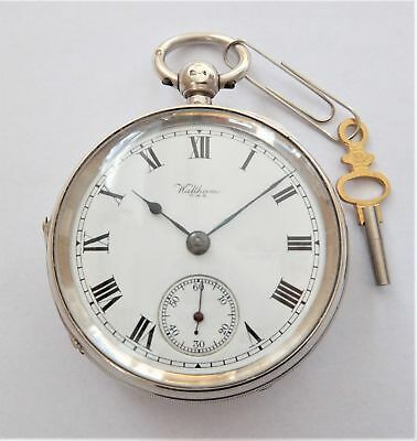 1920 Silver Cased Waltham English Lever Pocket Watch In Working Order