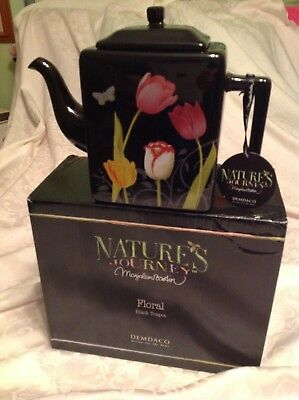 MARJOLEIN BASTIN Nature's Sketchbook TEAPOT New in Box (B)