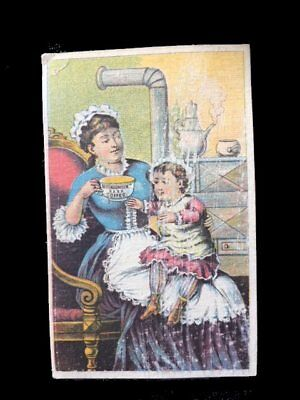 VTC=Toddler on Mom's Lap wants Cup-McLAUGHLIN COFFEExxxx=Victorian Trade Card