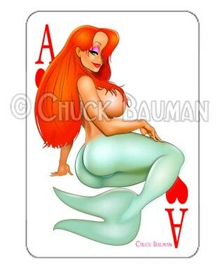 JESSICA RABBIT SHOOTIN/' FROM THE HIP pin-up playing card style sticker decal