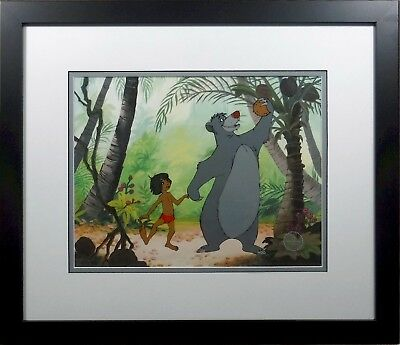 Jungle Book Disney Cel Sericel Baloo Rare custom background Bare Necessities