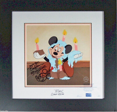 Disney Sericel cel Mickey Signed by 2 Mickey official Voice Allwine Bret Iwan