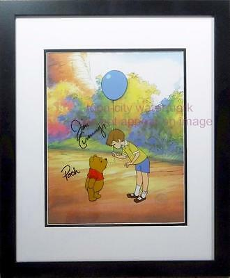 Disney Cel Chris Robin Sericel Winnie the Pooh Piglet Signed Voice Jim Cummings