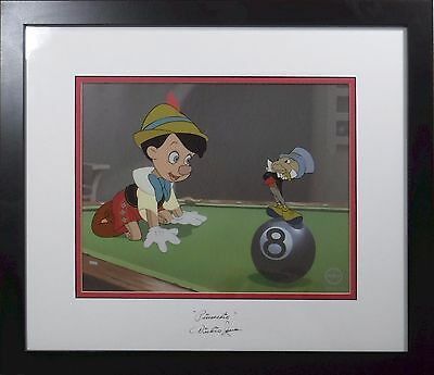 NEW FRAME Disney Sericel Cel Dickie Jones 1940 Hand Signed Original Pinocchio