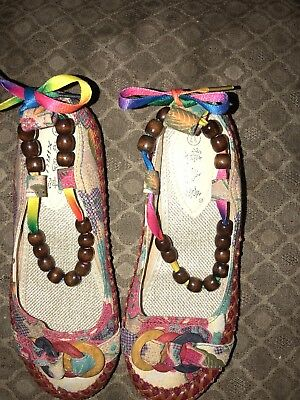 Ladies Bohemian Flats, Never Worn, Size Came Too Small