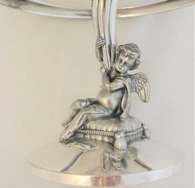 Victorian Reed & Barton Silver Plate Putti Angels Nudes Cake Stand Brides Basket