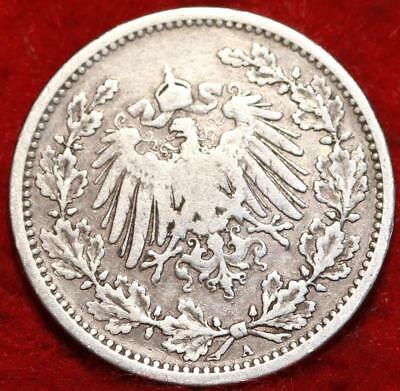 1905A Germany 1/2 Mark Silver Foreign Coin