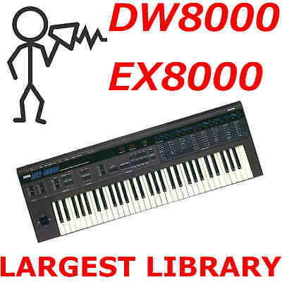 Korg DW-8000 EX-8000 3000+ Sounds Programs Patches Largest Library D0wnload