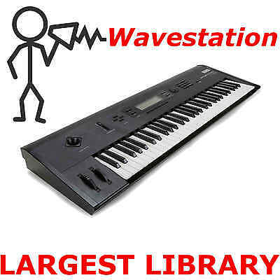 Korg Wavestation EX SR AD  40,000+ Sounds Programs Patches Largest Library