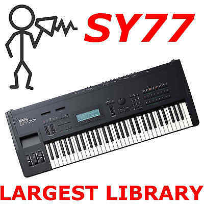 Yamaha SY77 TG77 .T01 .SYX 100,000+ - Sounds Programs Patches Largest Library