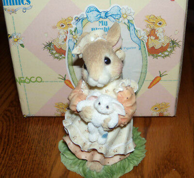 Enesco Blushing Bunnies You're A Blessing From Above