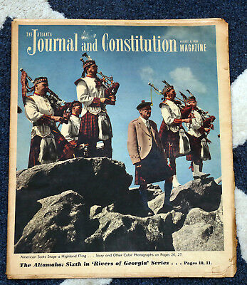 Grandfather Mountain Highland Games and Gathering of Clans 1961 Atlanta Journal