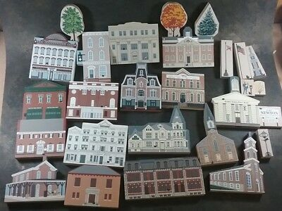 The Cats Meow Newton New Jersey Village Pieces Lot Of 27 Pieces