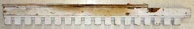 Vtg Early 1900's White Shabby Chic Architectural Dental Molding Antique Salvage