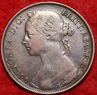 1884 Great Britain One Penny Foreign Coin