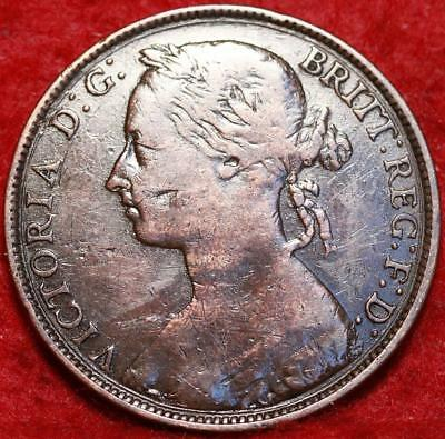 1893 Great Britain One Penny Foreign Coin
