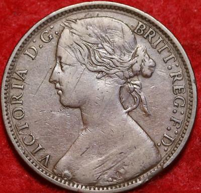 1874-H Great Britain One Penny Foreign Coin