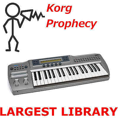 Korg Prophecy 1200+ Largest Patch Sound Program Library SysEx Patches Expansion