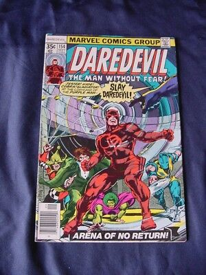 Daredevil #154 Sept 1978 35 Ct Bronze Age Comic Ungraded Bagged & Boarded Gd-Fn