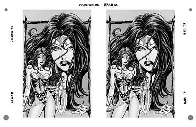 Mike Deodato Jr Wonder Woman Gallery Pg 24 Rare Large Production Art Two Up