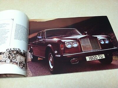Vintage 1977 Rolls Royce Deeper Into the Shadow Glossy Brochure Booklet