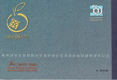 Israel 1998 50th Jubilee Prestige Booklet with all stamps  as issued (Mint, NH)