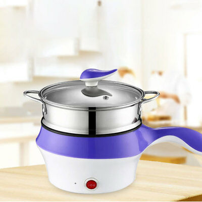 1.5L Stainless Steel Electric Cooker with Steamer Hot Pot Rice Cooker Soup Pot