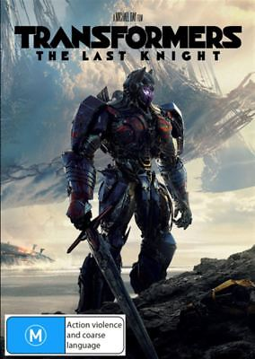 Transformers: The Last Knight - DVD Movie - Mark Wahlberg - Action - NEW
