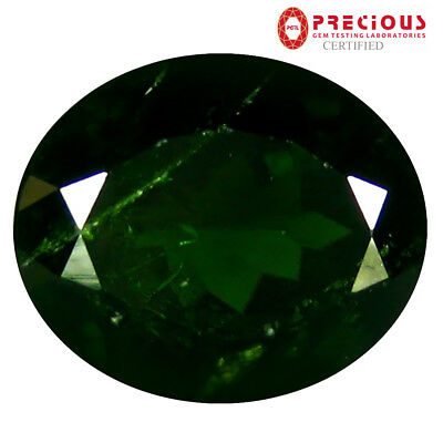 4.80 ct PGTL Certified Shimmering Oval Cut (11 x 9 mm) Russian Chrome Diopside