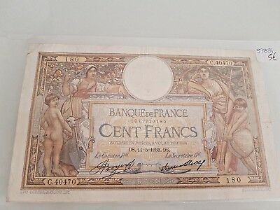 France - Ticket From 100 Francs Luc Olivier Merson 11-5-1933 - Ref37831
