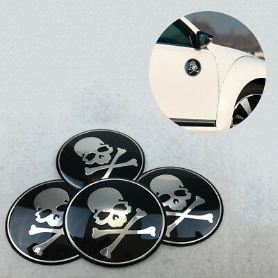 Self-Adhesive Car Decoration Sticker Car-Styling Skull Wheel Cover Body Stickers